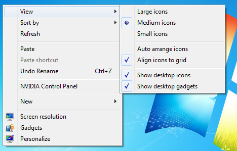 TriTech Computer Consulting | Change Windows Icon Size