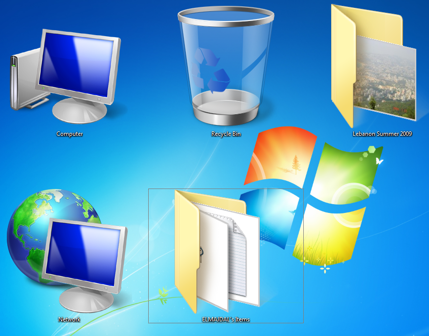 Windows 7: Changing Desktop Icons Size - TechNet Articles ...