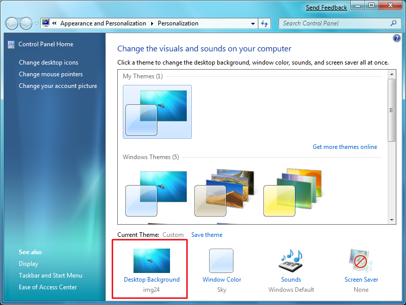 new feature shuffling desktop backgrounds in windows 7