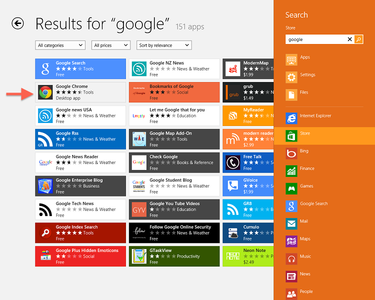 How to Download and Install Google Search and Chrome in Windows 8 ...