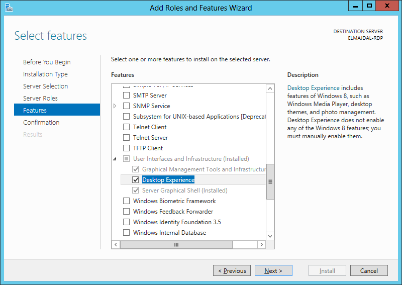 How To Enable Windows 8 Features in Windows Server 2012
